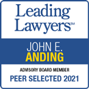 Leading Lawyer Badge for John E. Anding