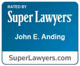 SuperLawyer Badge for John E. Anding